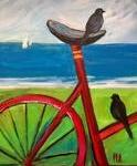 E11  Black Birds on Bike