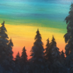 A8  Sunset Pine Forest