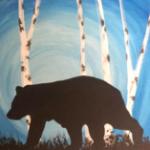 B16  Bear and Birch Trees