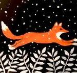G11  Leaping Winter Fox
