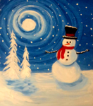 G10  Moonlit Snowman