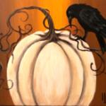 F3  Crow on White Pumpkin
