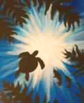 B10  Sea Turtle and Fish
