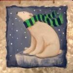 G5  Polar Bear in Scarf, canvas only