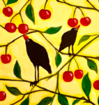 B26  Crows Picking Cherries