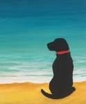 B13  Your Dog Silhouette on Beach