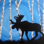 B16  Moose and Birch Trees