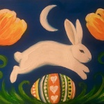 E4  Leaping Easter Bunny
