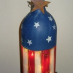 July 4th Bottle with Lights