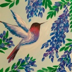B24  Wisteria Hummingbird