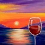 A6  Wine at Sunset