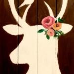 B18  Spring Deer on Pallet
