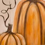F7  Tall Pumpkin Duo on Pallet Board