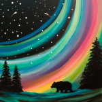 G14  Aurora Black Bear on Chalkboard Sign