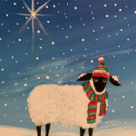 G25  Sheep in Scarf and Hat