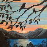 A17  Lake, Birds in Tree