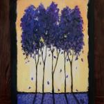 E19  Purple Trees Chalkboard Sign