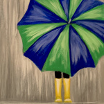F19  Umbrella Girl with Yellow Boots