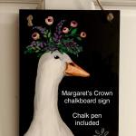 B40  Margaret the Goose Chalkboard