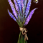 E27  Lavender and Bee on chalkboard sign