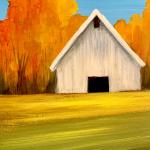 F16  White Barn in Fall