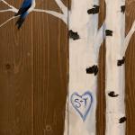 Bird on Birch Wood Pallet