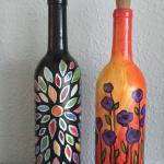E39  Custom Wine Bottle Painting