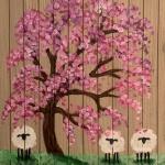 B47  Spring Sheep on Wood Pallet