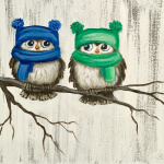 G21  Baby Owls in Hats