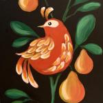 Partridge in a Pear Tree Chalkboard Sign