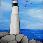 A16  Lighthouse on the rocks