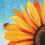 E22  Ladybug on Sunflower