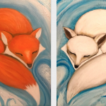 B37  Napping Foxes