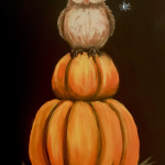F15  Witchy Owl on Chalkboard Sign