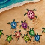 B43  Sea Turtle Family