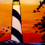 A 15  Sunset Lighthouse